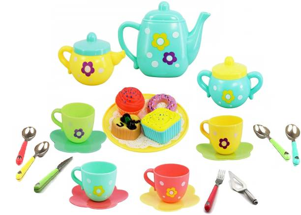 TEMSON Tea Party Role Play Kitchen Set Toy for Kids