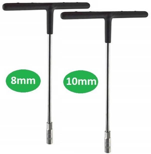 Inditrust T Spanner Set of 2 -8 mm & 10 mm Spanners Socket Set