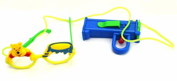 tirupaticollection Holi Fun Goggles Eyewear Pichkari with High Pressure Pichkari for Boys and Girls Water Gun