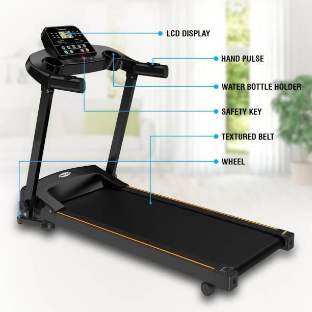 Maxpro IM5001 1.5 Hp (3.0 Hp Peak power) with Manual Inclination (2 levels), Motorised Treadmill