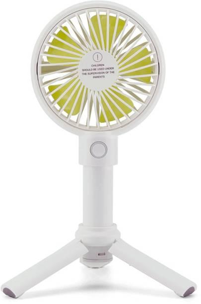 InOne Portable Handheld Wind Fan Cute Pocket Fan with Tripod Stand F12 USB Fan