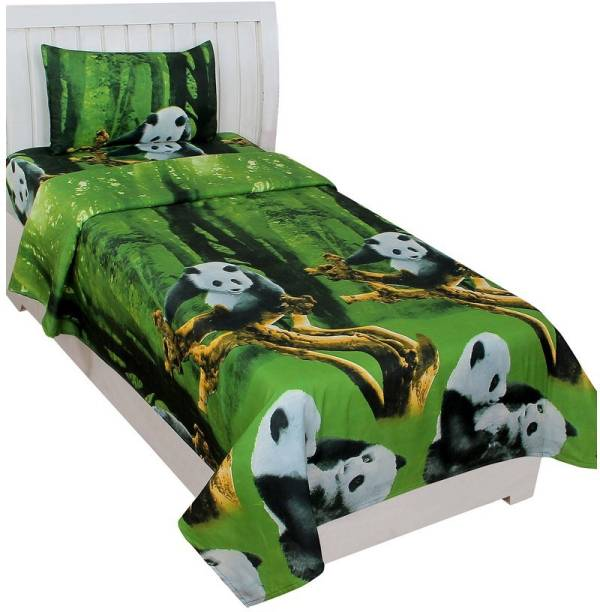 Fashion Town 160 TC Microfiber Single Cartoon Bedsheet