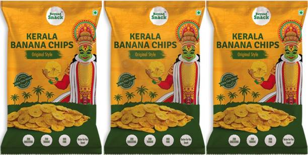 Beyond Snack Kerala Banana Chips Original Style Pack of 3 Chips