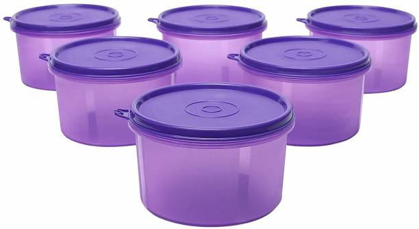 Cutting EDGE Pack of 6 | 535 ML | Purple | Leak Proof Air Tight Food Saver Eco-Plastic Tiffin Lunch Box Polypropylene Fridge Container  - 535 ml Polypropylene Fridge Container