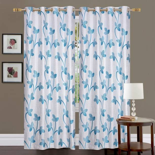 kiara Creations 153 cm (5 ft) Polyester Window Curtain (Pack Of 2)