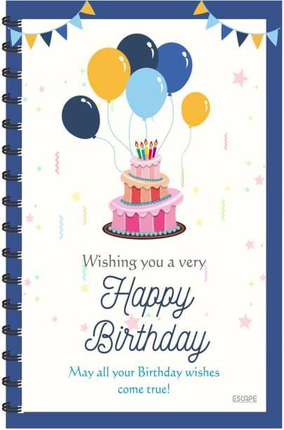 ESCAPER Happy Birthday Designer Diary (RULED) Designer Diary, Notebook, Notepad A5 Diary Ruling 160 Pages