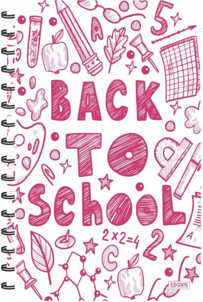 ESCAPER Back To School (RULED) Designer Notebook, Notepad A5 Notebook Ruling 160 Pages