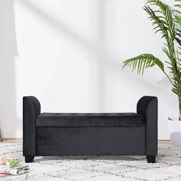 TREVI Polo Storage Bench Fabric Settee