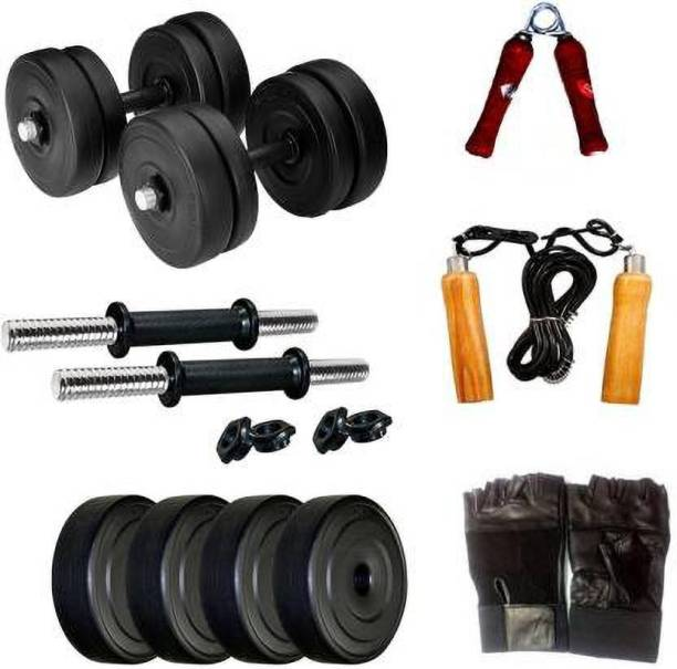 Growth Up Home-Gym-Comb-8KG Black, Silver Weight Plate