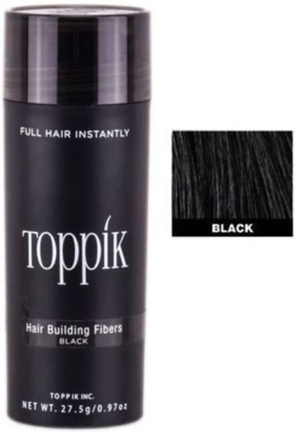 toppik Hair Building Fibers Black 27.5 gm Hair Building FIbers 27.5 gm Hair Volumizers Till It is washed off the hairs Hair Volumizer Powder