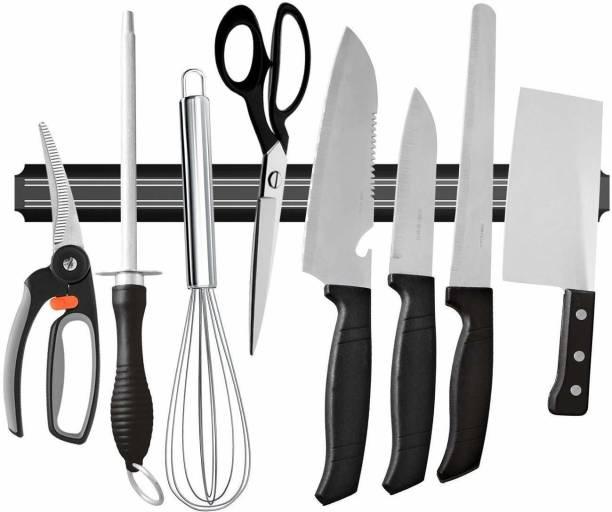 Shopper52 Wall Mount Magnetic Knife Holder Chef Rack Magnetic Strip Kitchen Organiser Magnet - KNIFEHANGER Kitchen Organiser Magnet Pack of 1