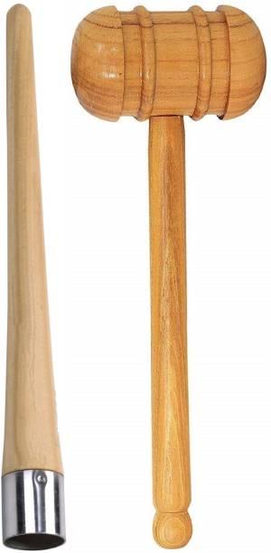 Sidhbali Cricket Bat Grip Cone With Bat Knocking Hammer Wooden Bat Mallet