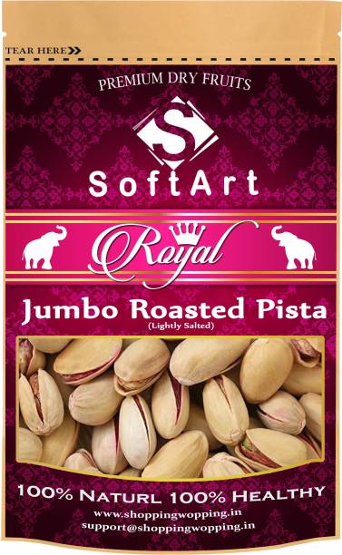 Soft Art Royal Jumbo Roasted Pista (Lightly Salted) Vacuum Pack Pistachios (100 grams) Pistachios
