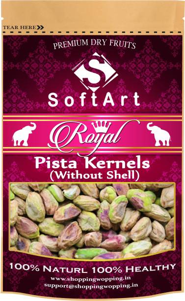 Soft Art Royal Pista Kernels Without Shell Vaccum Pack Pistachios
