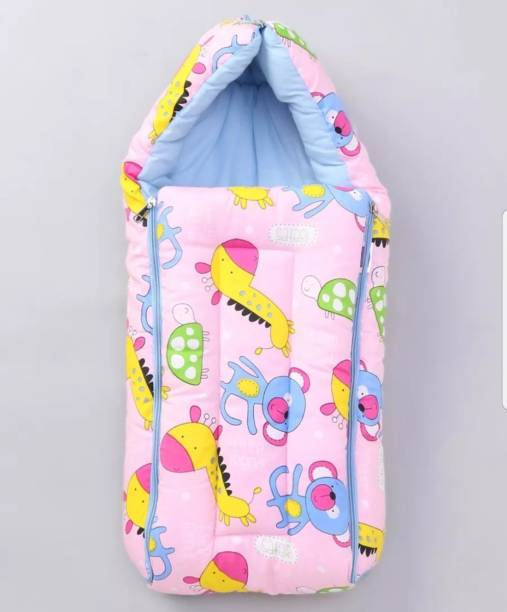 BRANDONN All Season Hooded Premium Cotton new born baby blanket Cum sleeping bag Sleeping Bag