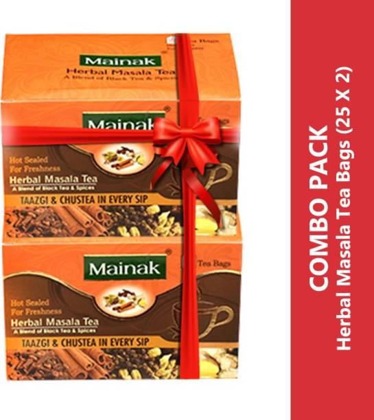 Mainak CTC Herbal Masala Indian Spices Black Tea Bags Box
