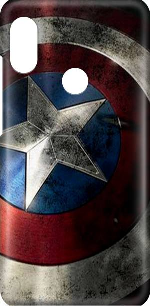 Accezory Back Cover for Honor 8X Back Cover-CAPTAIN AMERICA-IRON MAN-AVENGERS-BACK CASE