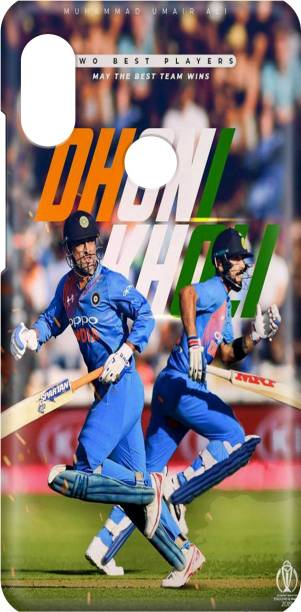 Accezory Back Cover for Vivo Y17 CASE COVER COVER, CRICKET, MS DHONI, VIRAT KHOLI