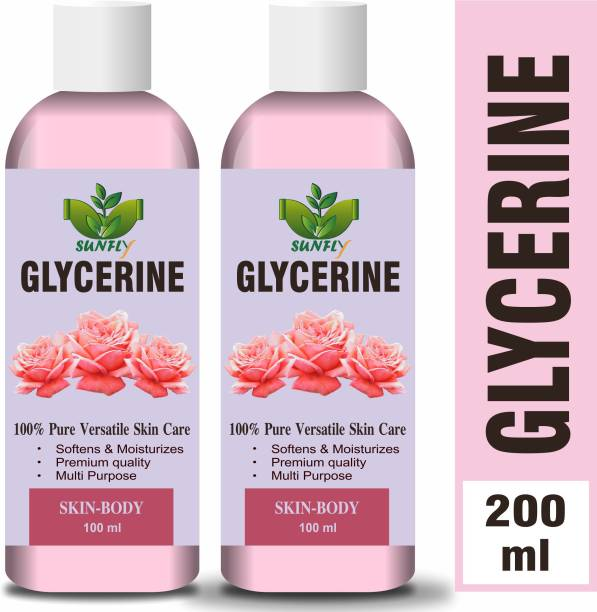 Sunfly 100% Pure & Natural Glycerine for Beauty and Skin Care-200ML