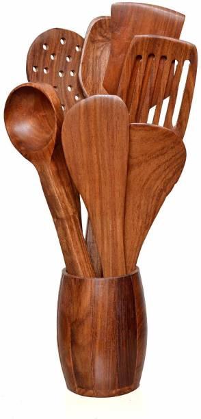 Heritage Wood Crafts 67 cooking spoons Brown Kitchen Tool Set