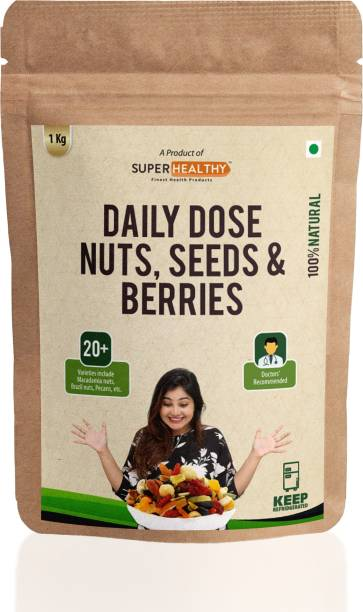 Super Healthy Nuts, Seeds and Berries | Healthy and Nutritious Snacks |20+ varieties| Bulk Pack |