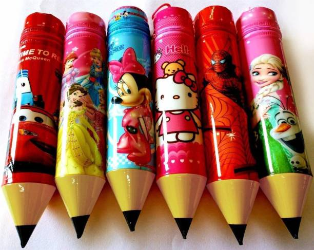 ARVANA birthday return gifts for kids 12 Art Polyester Pencil Boxes