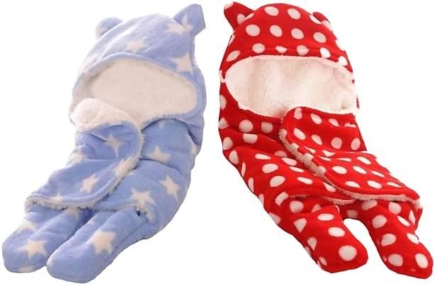 BRANDONN All Season Premium Supersoft New born hooded Sleeping Bag Sleeping Bag