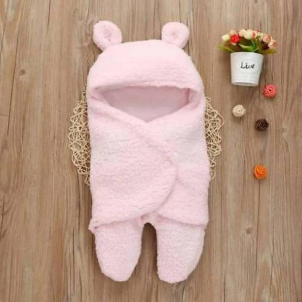 BRANDONN All Season Premium Supersoft New born Sleeping Bag Cum Wrapper Cum Baby Blanket Sleeping Bag