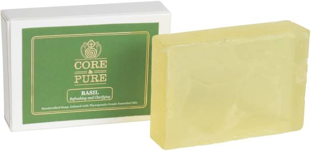 CORE & PURE BASIL SOAP Handcrafted with Grade-A, Essential Oils