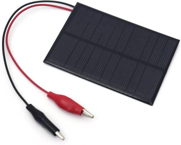 Electronic Spices Solar for DIY Square Shape Mini Solar Panel Alligator Clip Attached Panel 6V-180 mAh (99 x 69 x 03 mm) Solar Panel