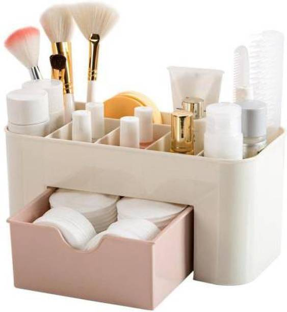 Coozico Drawer Type Storage Box Cosmetic Plastic Household Multifunctional Jewelry Office Desk MAKEUP, JWELLERY Vanity Box Organizer Vanity Box Cosmetic Vanity Box