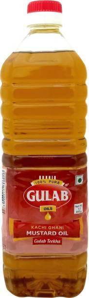 Gulab Kachi Ghani Mustard Oil Plastic Bottle