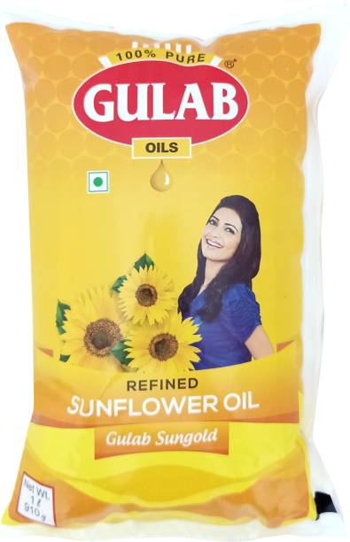 Gulab Sungold Refined Sunflower Oil Pouch