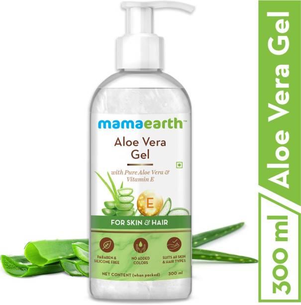 MamaEarth Aloe Vera Gel with Pure Aloe Vera & Vitamin E for Skin and Hair - 300ml