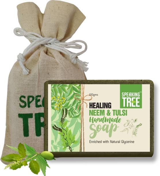 Speaking tree Healing Neem and Tulsi Handmade Soap - 100gms