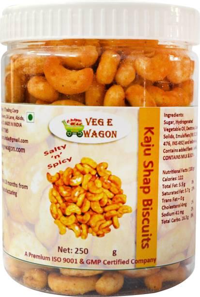 Veg E Wagon Kaju Shape Salty And Spicy Biscuits