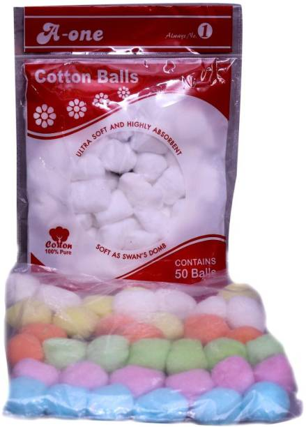 PSH Cotton Cosmetic Balls Colored