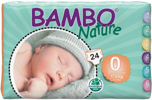 Bambo Nature Eco-Friendly Baby Diapers with Wetness Indicator - Premature
