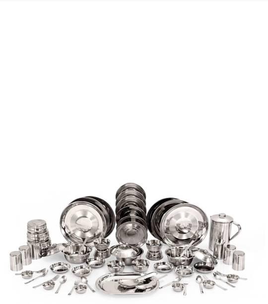 KIARAA Pack of 61 Stainless Steel dmark Dinner Set
