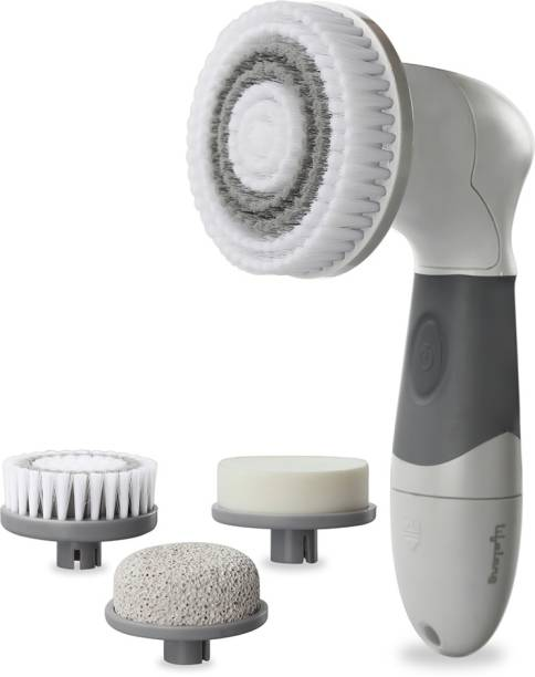Lifelong LL621 Electric Portable Face Massager Machine Brush for Women with 4 heads for Cleansing, Scrubbing and Exfoliating Massager