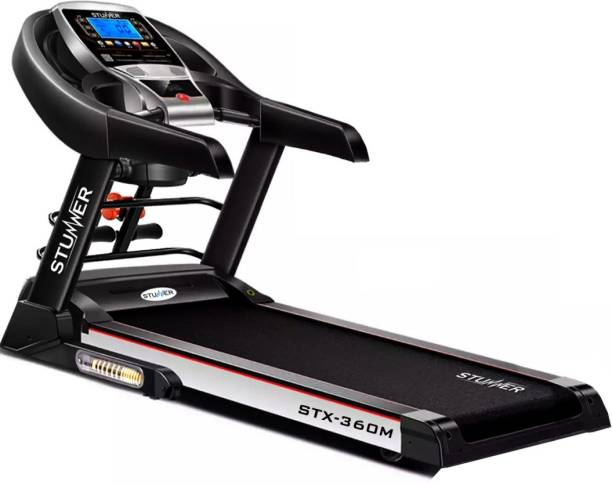 Stunner Fitness STX-360M Multi Functional 2.0 HP with Auto Lubrication System, MP3, Smart Phone App for Cardio Workout Treadmill