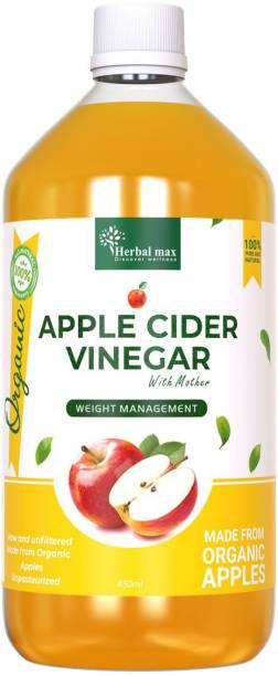 Herbal max Raw, Unfiltered & Unpasteurized Apple Cider Vinegar with Mother for Weight Loss Vinegar