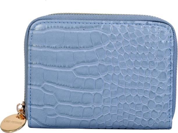 LINO PERROS Women Blue Artificial Leather Wallet