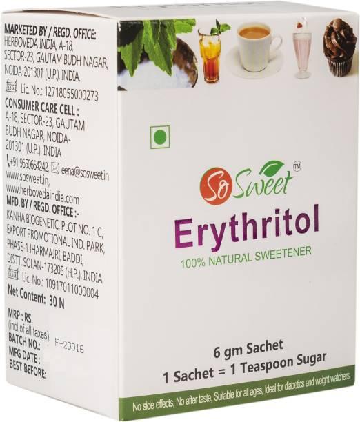 SO SWEET Erythritol Sachets Sugar Free 100% Natural Sweetener