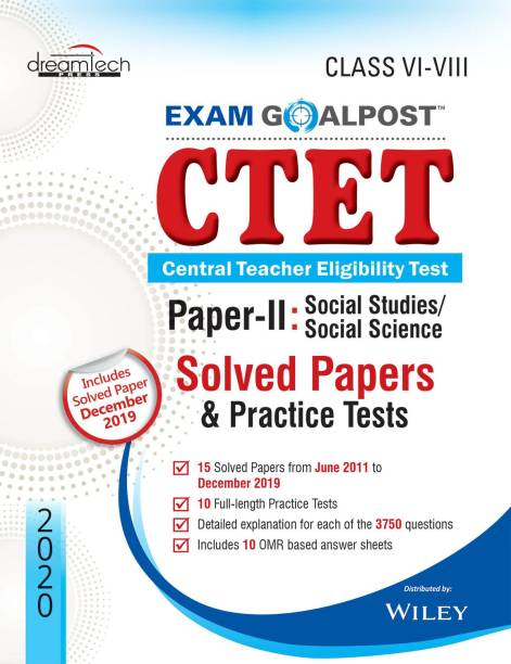 CTET Social Studies / Social Science Paper - II - Class VI - VIII (Includes Solved Papers & Practice Tests December 2019) 2020 First Edition