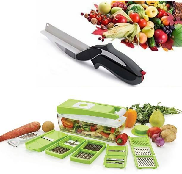 Ketsaal Nicer Dicer 12 IN 1 with 1 Vegetable cutter Vegetable & Fruit Chopper