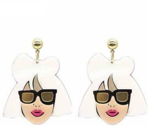 BE UNIQUE LADYGAGA-ENG01 Acrylic Drops & Danglers