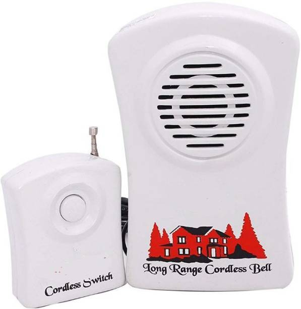 Gentle e kart Wireless Calling Bell for Office Home Remote Doorbell High Range Cordless Bell with Remote Bell Wireless Door Bell (Birds Sound) Multi -design Wired Door Chime