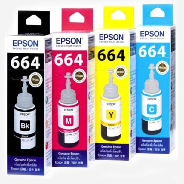 Epson ep-664-4 color Black + Tri Color Combo Pack Ink Bottle
