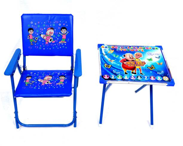 Demya king of steel Best for Your Children Love Kids Height Adjustable Study Table & Chair Set Standard Quality Metal Desk Chair
